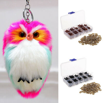 125Pcs Plastic Safety Eyes Craft For Bears Soft Toys Snap Animal Dolls Craft