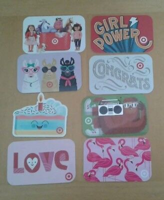 Lot of 8 Target Gift Cards, INTERESTING,  Collectible, Mint