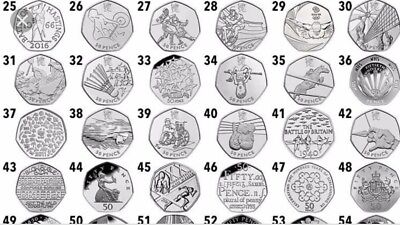 Great British 50p Coin Hunt - Rare Coins