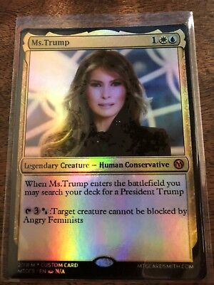 Ms. Melania Trump American President Magic The Gathering MTG card Planeswalker