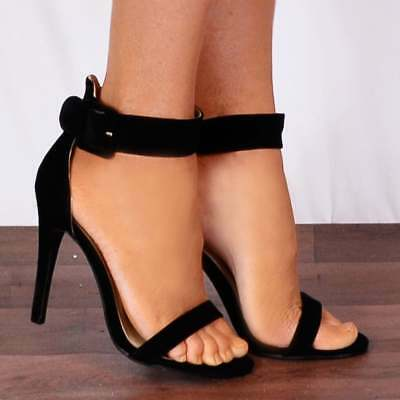 20033e1b0345 Light Baby Pink Ankle Strap Stilettos Strappy Sandals Peep Toes High Heels  Size