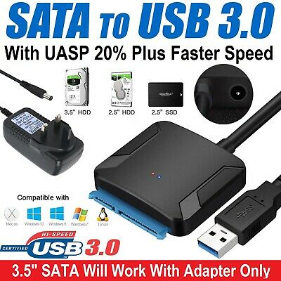 USB to Sata Adapter USB 3.0 to 2.5? 3.5? Sata HDD SSD Hard Drive Power Adapters