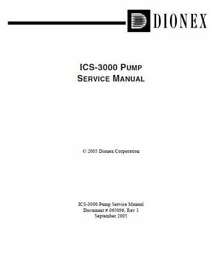 Dionex / Thermo     ICS-3000 PUMP SERVICE MANUAL