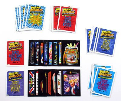2017 Topps Wacky Packages 50th Anniversary Sticker Cards (6 Sets - 55 Cards)