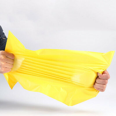 Yellow Poly Mailers Shipping Envelopes Self Sealing Plastic Mailing Bags 50pcs