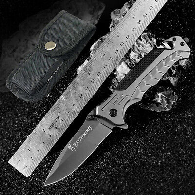 "8""Outdoor Tactical Pocket Hunting Knife Browning Camping Folding Survival Knives"