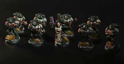Dark angels tactical squad painted Warhammer 40000