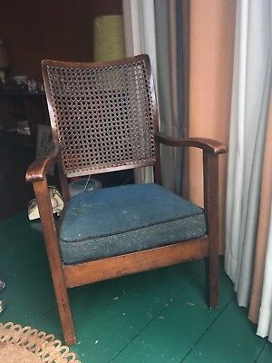 Super condition vintage bergere backed occasional chair.