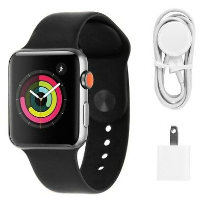 Apple Watch Series 3 (42mm) Space Gray/Black Sport Band (GPS + Cellular LTE)
