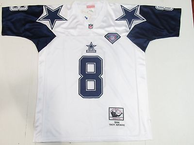 pretty nice c8fe3 ec33b NEW TROY AIKMAN #8 Dallas Cowboys 1994 Throwback Thanksgiving M&N White  Jersey