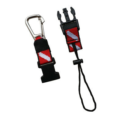 Scuba Diving Gear Equipment Quick Release Lanyard with Spring Carabiner Clip