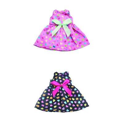 2Pcs Skirt Dress Clothes for 14 inch American Girl Doll Dress Accessory