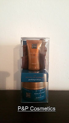 Rituals The Ritual of Hammam Purifying Scrub Set (Black Soap, Body Scrub, Glove)