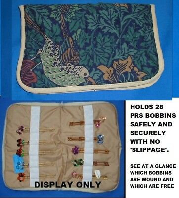 Small Padded Zip Bobbin Bag Holds 28 Prs Bobbins  Safely & Securely  Wm Morris