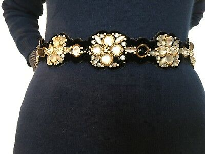 Vintage ORNATELY BEADED BELT 1930's - 1940's ERA