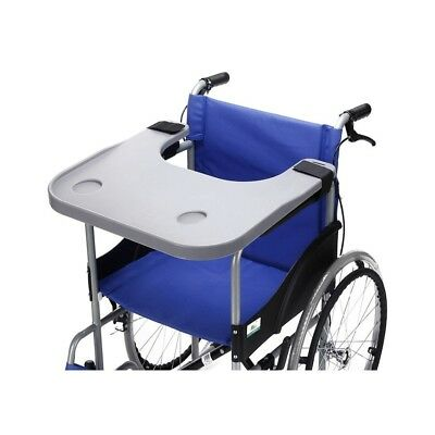 Removable Wheelchair Tray Table with 2 Cup Holder Disabled Portable Lap Tray