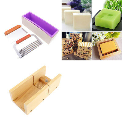 4x Silicone Soap Mold Loaf with Adjustable Soap Cutting Mould Metal Cutter