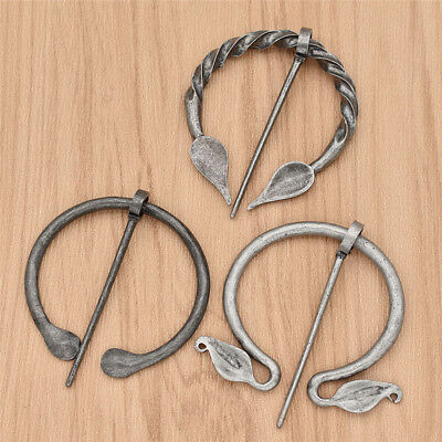 Penannular Viking Brooch Pin Medieval Clasp Silver Norse Retro Women Men Jewelry