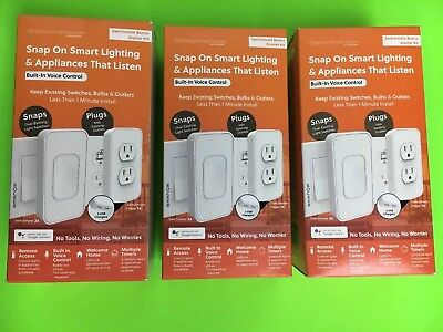 3 X Simply Smart Home Bonus Starter Kit Rocker switches SKLPP00R2 Google Assist