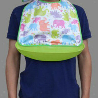 Large Adult Bib Reusable Washable Waterproof Clothing Protector Food Catcher