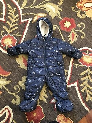 d815e60d4 OSHKOSH BOYS 2-PIECE Snowsuit Sz 5 Ski Jacket & Bib Set Navy Blue ...