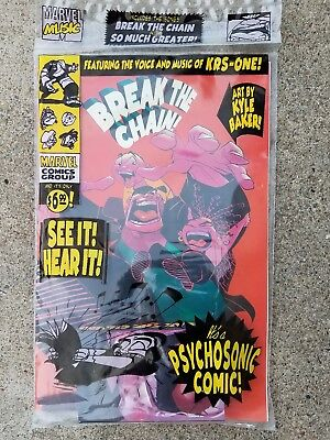 Marvel Comics Break The Chain Comic Book & Music Cassette Sealed