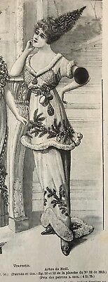 MODE ILLUSTREE October 26,1913+sewing pattern Ball gowns