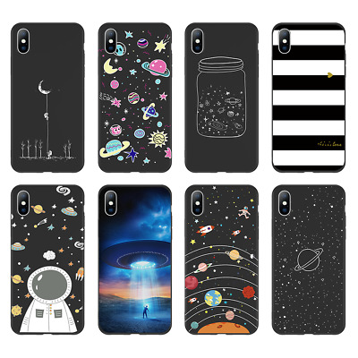 For iPhone XS Max XR X 6s 78 Plus Planet Pattern Thin Gel Soft Rubber Case Cover
