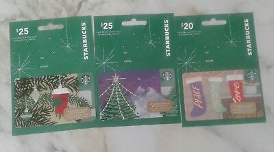 3 New Starbucks 2018 Christmas Holiday Gift Card Hangers 6156 Collectible Mint