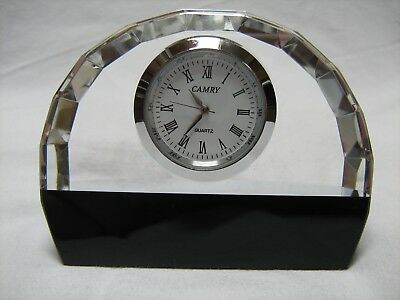 Quality Crystal And Marble Clock / Art Deco Style