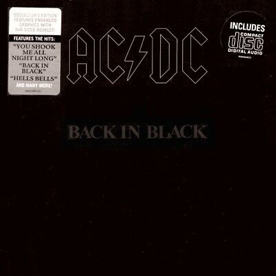 AC/DC - Back In Black  RARE OOP ORIG Collector's Edition CD w/ 8x8 Book (New!)