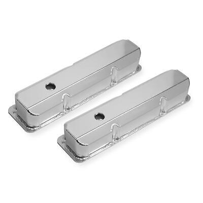 Mr Gasket 6872G Fabricated Aluminum Tall Valve Covers, Ford FE, Silver
