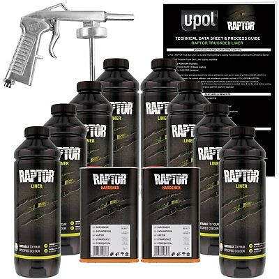 Raptor® Liner Kit 8L Kit Tintable - 2.6 Voc ( 1 Free Gun On First 8L Kit Only )