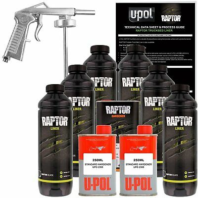 Raptor® Liner Kit 6L Kit Black - 2.6 Voc ( 1 Free Gun On First 6L Kit Only )