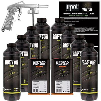 Raptor® Liner Kit 8L Kit Black - 2.6 Voc ( 1 Free Gun On First 8L Kit Only )