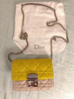 65b09b8cfc4 CHRISTIAN DIOR LAMBSKIN Miss Dior Mini Promenade Clutch Bag ...