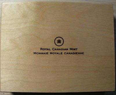 O Canada 2013 12 coin Wood Display Box Case Chest (no coins)