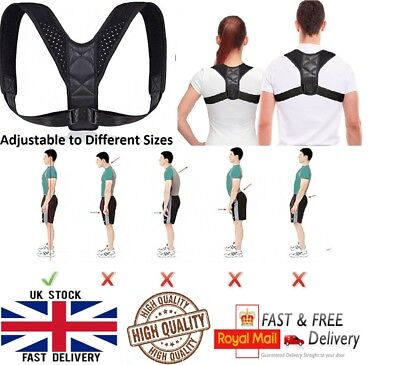 Body Wellness Posture Corrector Lumbar Belt Back Shoulder Brace Unisex UK Seller