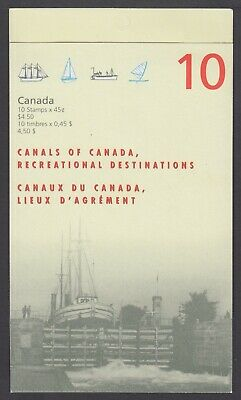 CANADA BOOKLET BK208a 10 x 45c CANALS OF CANADA, GLUED FLAP NO TI