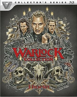 BLU-RAY Warlock 1-3 Collection: Collector's Series (Blu-Ray, 3-Disc Set) NEW