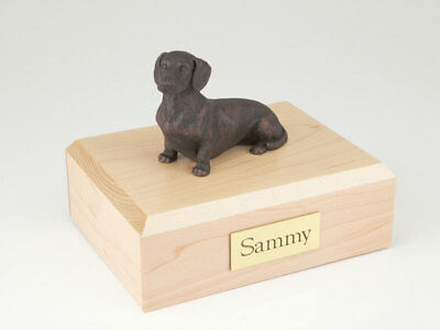 Bronze Dachshund Pet Funeral Cremation Urn Avail in 3 Different Colors & 4 Sizes