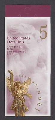 CANADA BOOKLET BK212b 5 x 52c CHRISTMAS - ADORING ANGEL, OPEN COVER WITH TI