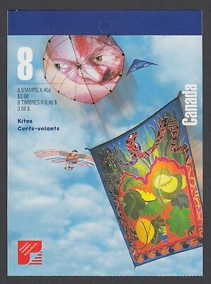 CANADA BOOKLET BK221b 8 x 46c KITES, OPEN COVER WITH TI