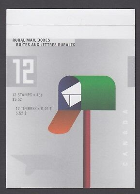CANADA BOOKLET BK226b 12 x 46c RURAL MAILBOXES, OPEN COVER WITH TI