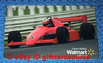 """Walmart Canada Gift Card """"indy 500 Red Race Car"""" Collectible No Value New Rare"""