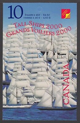 CANADA BOOKLET BK230a 10 x 46c TALL SHIPS, GLUED FLAP NO TI