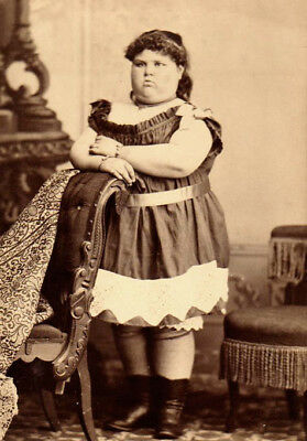 BABY BUBBLES American-Europe CIRCUS FAT LADY Antique FREAK PHOTO Rare 1890 OBESE