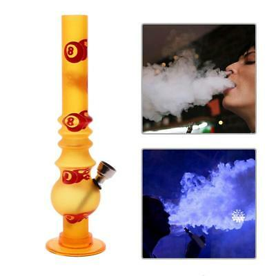 Portable Mini Acrylic Hookah Shisha Weed Water Pipe Tobacco Smoking Gifts Orange