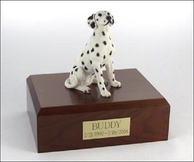 Dalmatian Pet Funeral Cremation Urn Available in 3 Different Colors & 4 Sizes