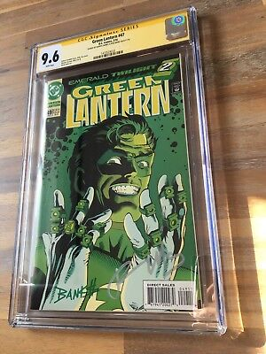 Green Lantern #49 CGC 9.6 SS Ron Marz Darryl Banks Signed 2x Emerald Twilight🏅